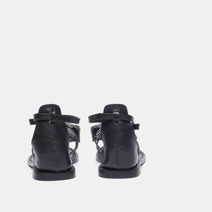 Sandales à bride bata, Noir, 564-6710 - 26