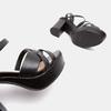 Sandales à talon large et à plateforme bata, Noir, 761-6890 - 17