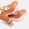 Sandales à talon large bata, Brun, 761-3850 - 17