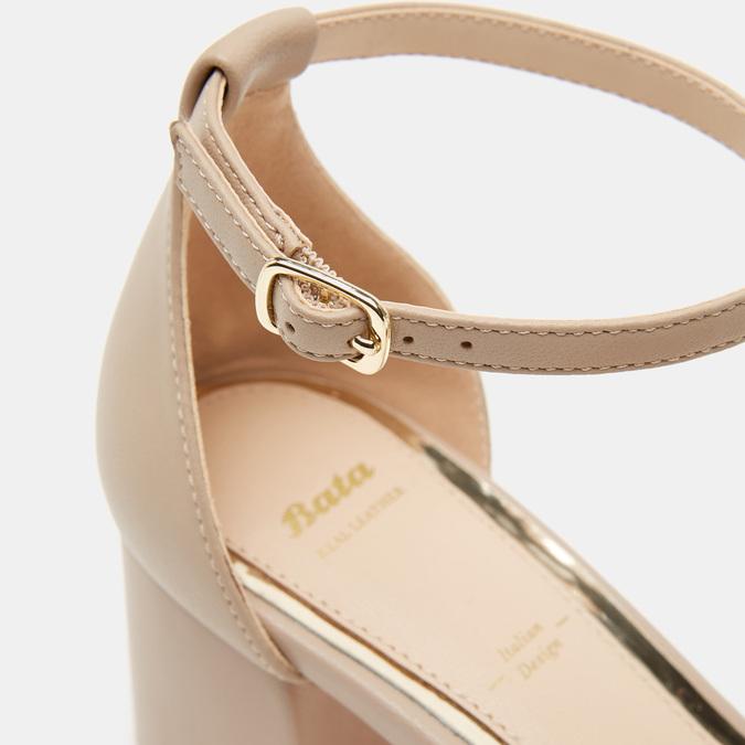 Sandales à talon large bata, Rose, 764-5862 - 26