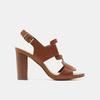 Sandales à talon large bata, Brun, 761-4849 - 13