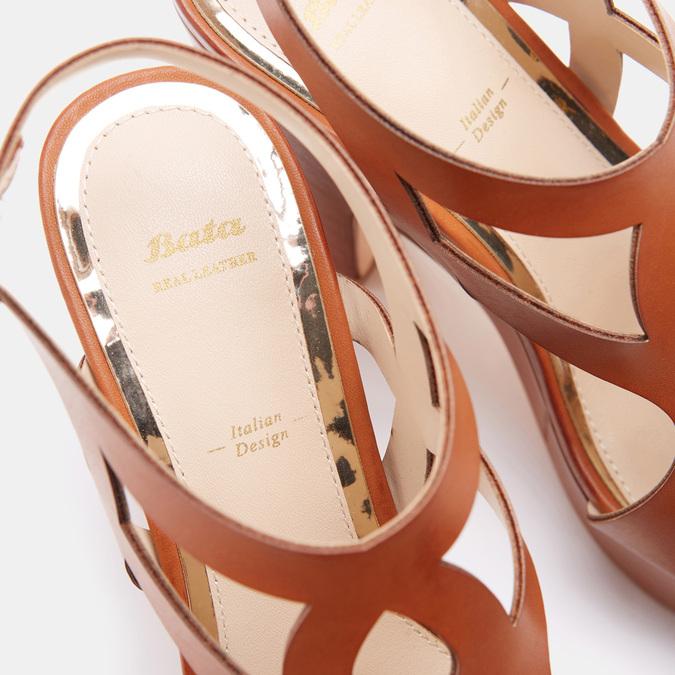 Sandales à talon large bata, Brun, 761-3850 - 16
