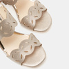 Sandales à talon large bata, bronze, 761-8860 - 16