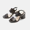 Sandales à talon large bata, Noir, 761-6860 - 26