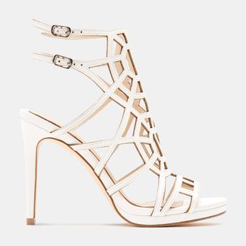 Sandales à talon aiguille bata, Blanc, 761-8880 - 13