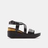 Sandales compensées bata, Noir, 764-6985 - 13