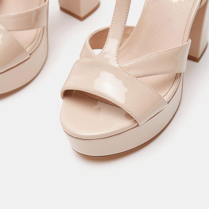 Sandales à talon large bata, Rouge, 761-5874 - 26