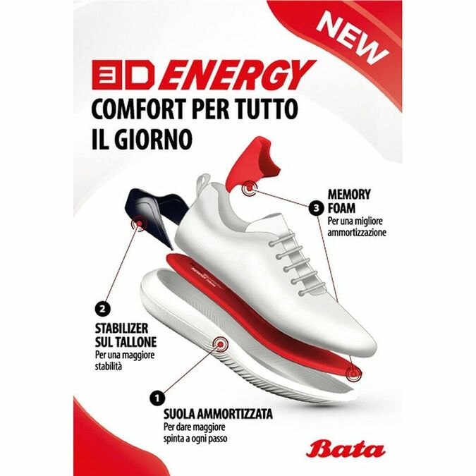 Baskets Slip-on Bata 3D Energy bata-3d-energy, Noir, 539-6173 - 18