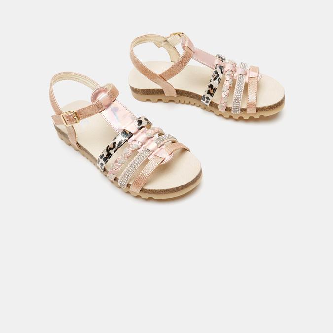 Sandales fille mini-b, Rose, 361-5413 - 16