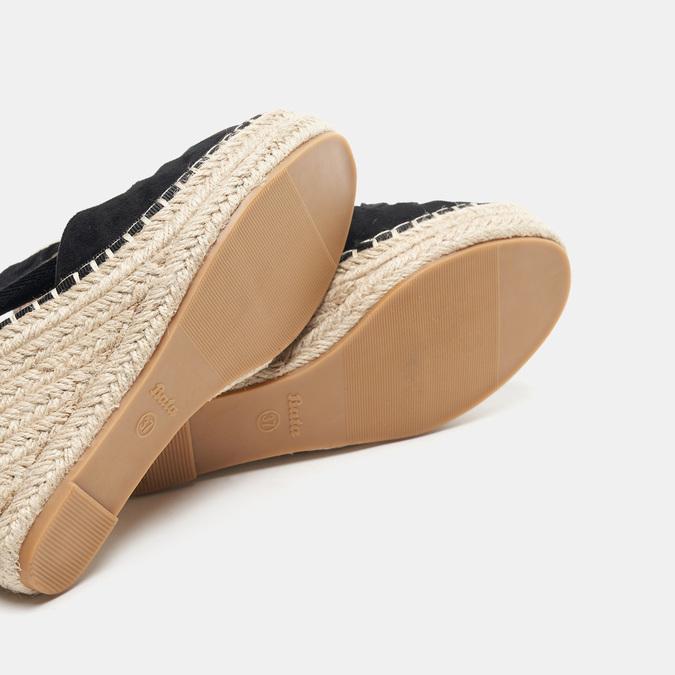 Sandales compensées bata, Noir, 769-6868 - 19