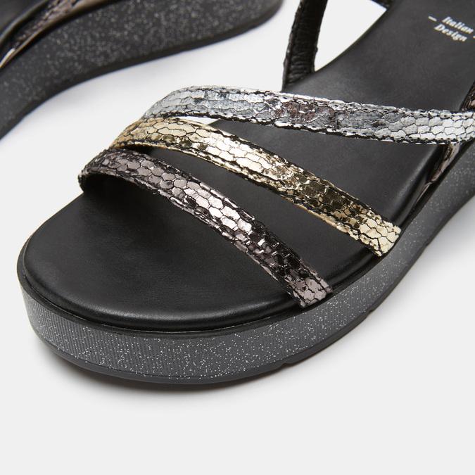 Sandales femme à plateforme bata, Noir, 661-6518 - 26