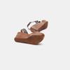 Sandales à plateforme bata-rl, Brun, 764-4990 - 17
