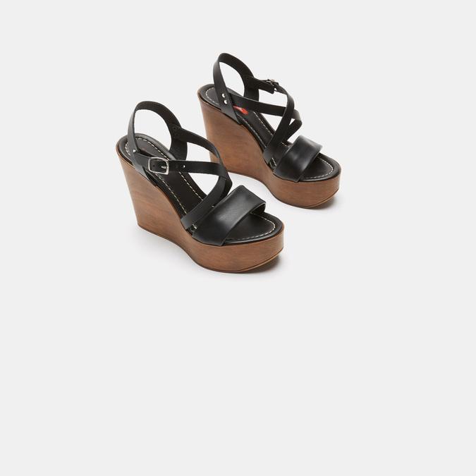 Sandales compensées bata-rl, Noir, 764-6981 - 16