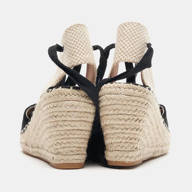 Sandales compensées bata, Noir, 769-6868 - 15