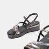 Sandales femme à plateforme bata, Noir, 661-6518 - 19