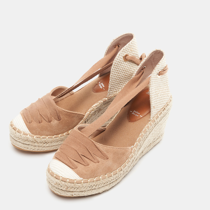 Sandales compensées bata, Brun, 769-3868 - 26