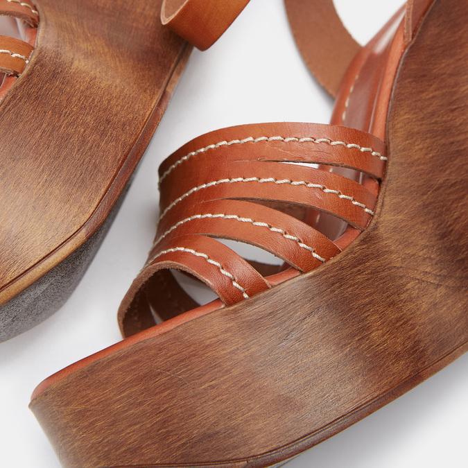 Sandales compensées bata-rl, Brun, 764-3982 - 26