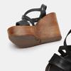 Sandales compensées bata-rl, Noir, 764-6981 - 17