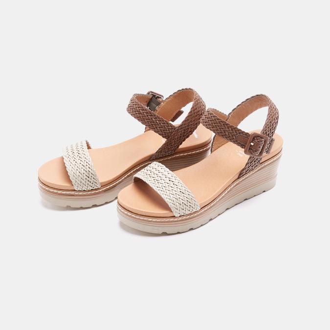 Sandales compensées bata, Blanc, 761-1947 - 26