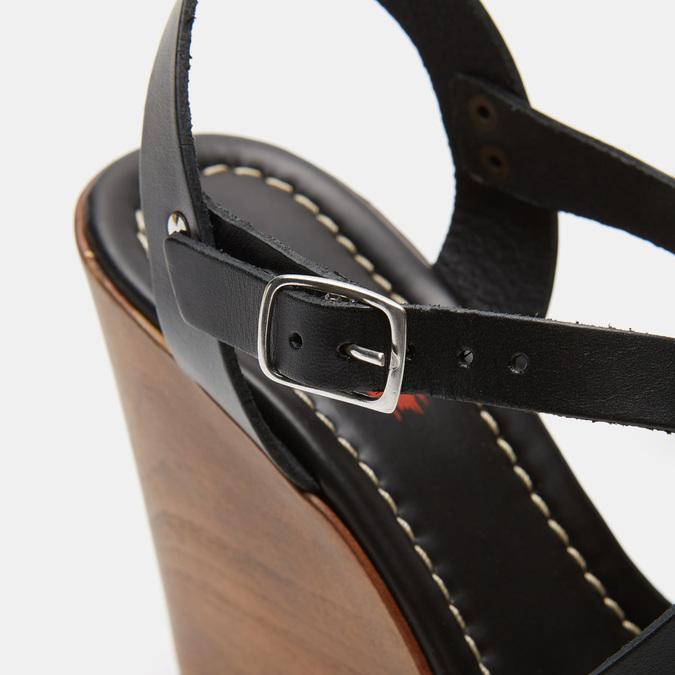 Sandales compensées bata-rl, Noir, 764-6981 - 26