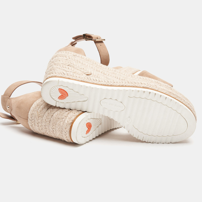 Sandales compensées bata, Beige, 769-8983 - 17