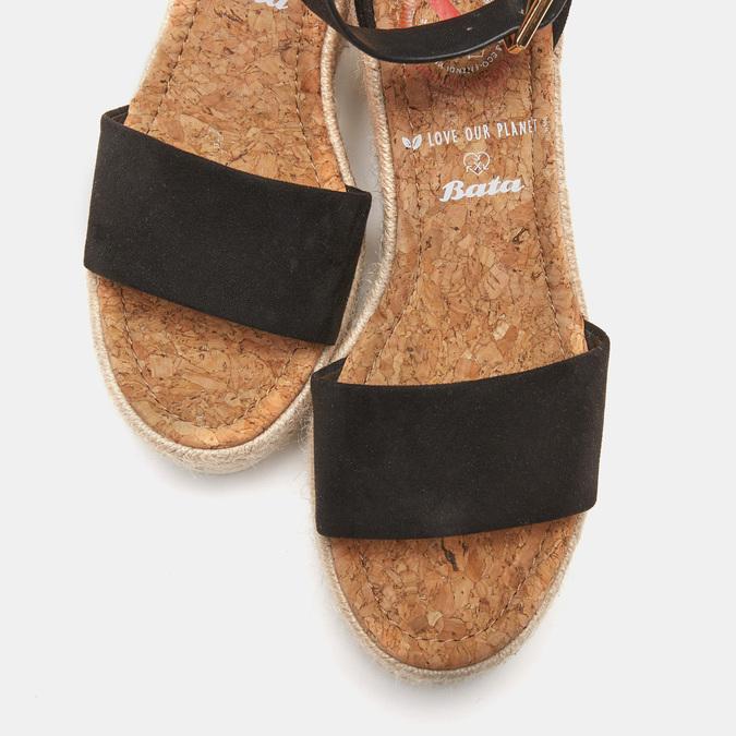 Sandales compensées bata, Noir, 769-6983 - 19