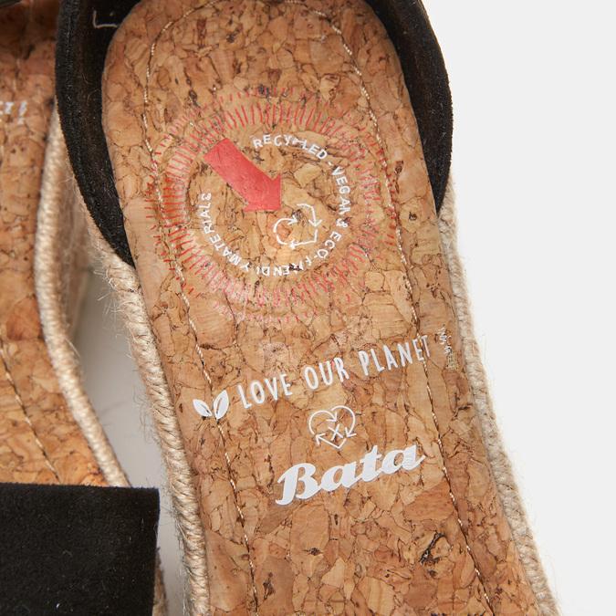 Sandales compensées bata, Noir, 769-6983 - 16