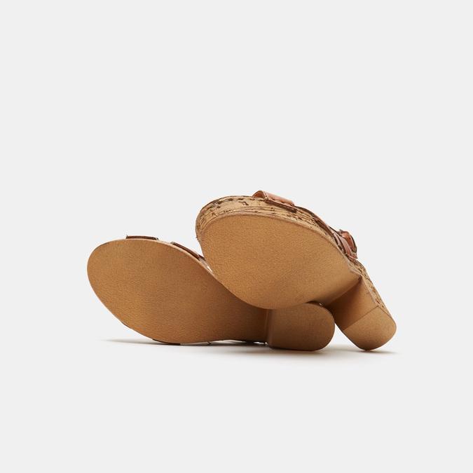 Sandales à plateforme bata, Brun, 764-3980 - 17