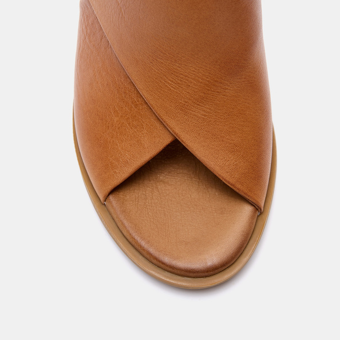 Sandales à talon bata, Brun, 724-3284 - 19