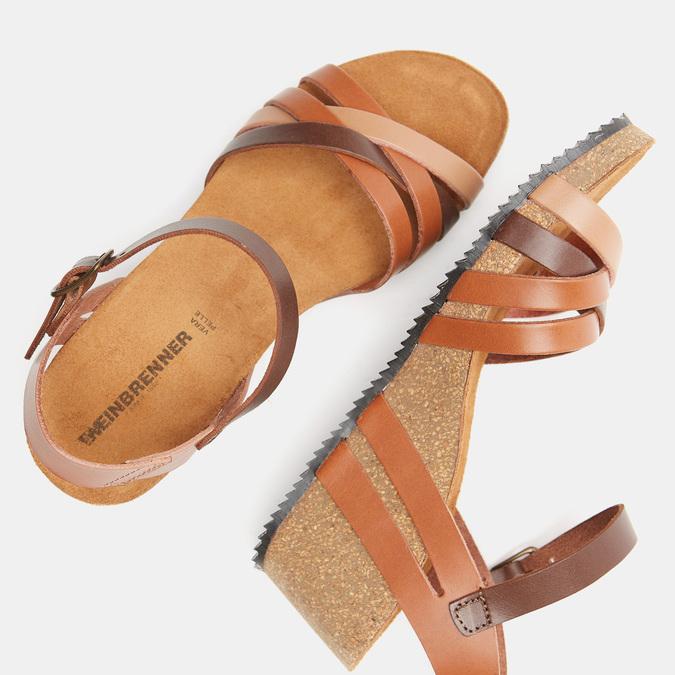 Sandales compensées weinbrenner, Brun, 764-4984 - 17