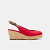 Sandales compensées tommy-hilfiger, Rouge, 669-5189 - 13