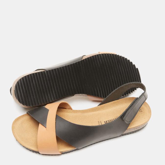 Sandales femme weinbrenner, Noir, 564-6907 - 19