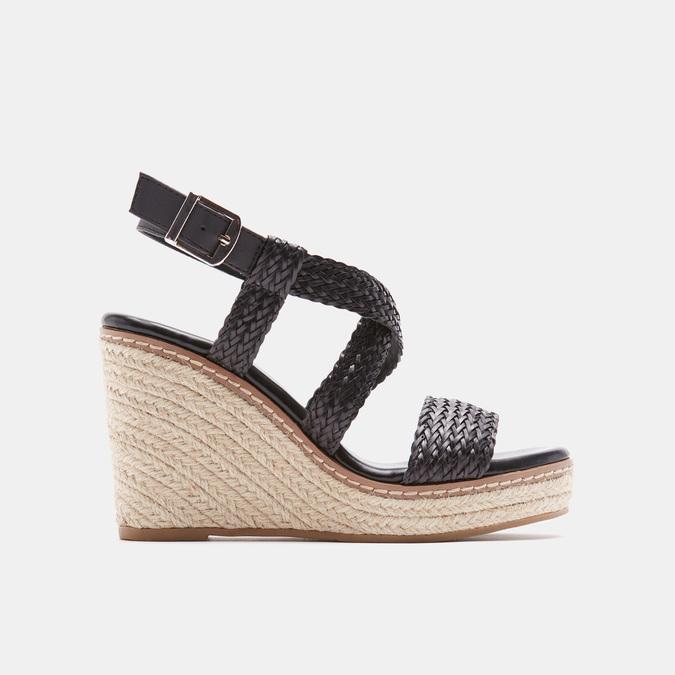 Sandales compensées bata, Noir, 761-6961 - 13