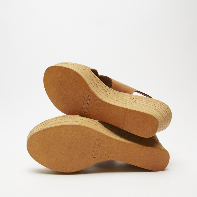 Sandales compensées bata, Brun, 766-3964 - 17