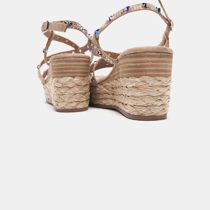 Sandales compensées bata, Jaune, 769-8951 - 15