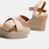 Sandales compensées bata, Beige, 763-8963 - 16