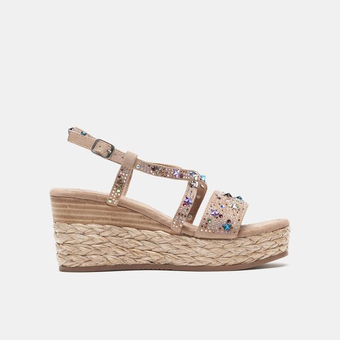 Sandales compensées bata, Jaune, 769-8951 - 13