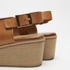 Sandales à plateforme bata, Brun, 764-3966 - 16