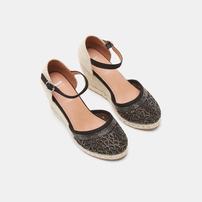 Sandales compensées bata, Noir, 769-6962 - 19