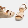 Sandales compensées bata, Beige, 763-8963 - 15