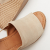 Sandales à plateforme bata, Beige, 763-8125 - 19