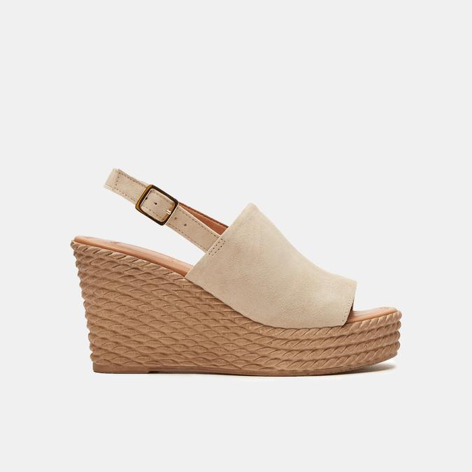 Sandales à plateforme bata, Beige, 763-8125 - 13