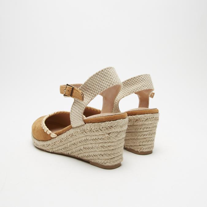 Sandales compensées bata, Brun, 769-3871 - 17