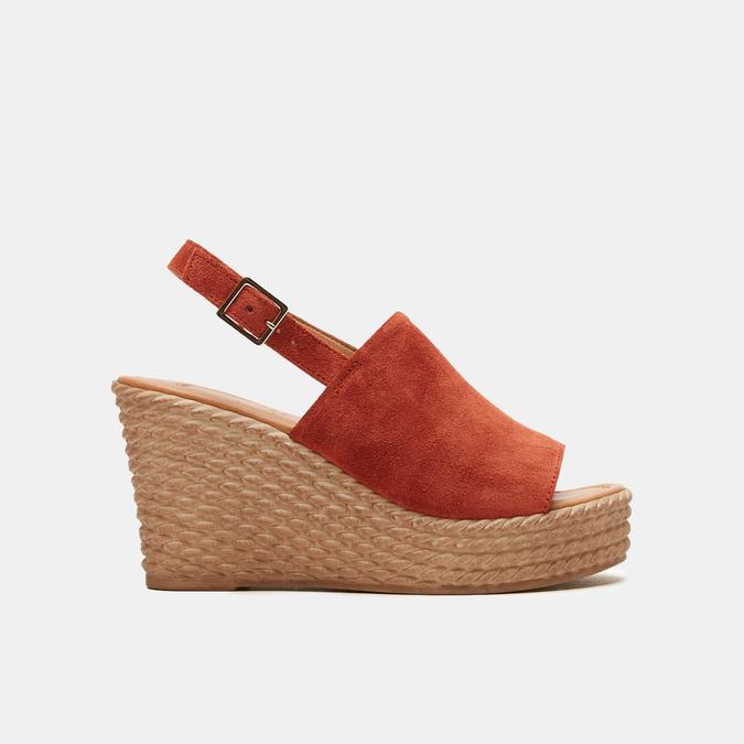 Sandales à plateforme bata, Brun, 763-4125 - 13