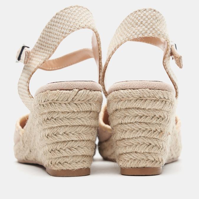Sandales compensées bata, Beige, 769-8871 - 15