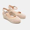 Sandales compensées bata, Beige, 769-8871 - 26
