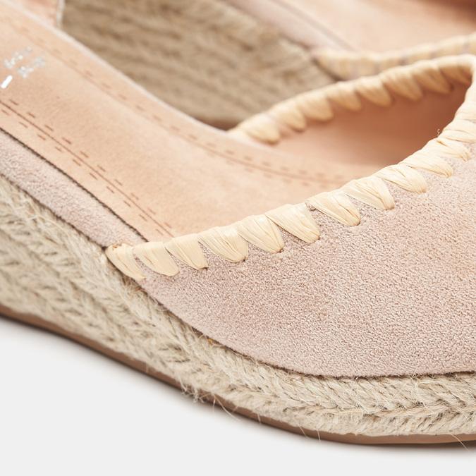 Sandales compensées bata, Beige, 769-8871 - 16