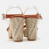 Sandales à talon large et à plateforme bata, Blanc, 761-1866 - 19