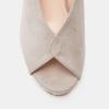 Sandales à talon large et à plateforme bata, Gris, 769-2865 - 26