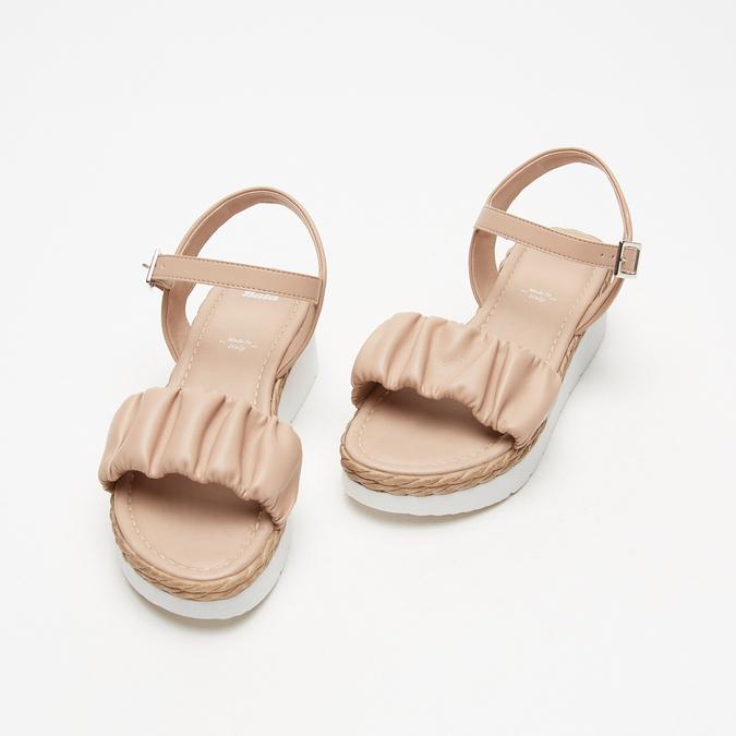 Sandales à plateforme bata, Rose, 761-5289 - 26